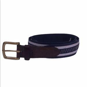 Vineyard Vines Stripe Canvas Leather Belt